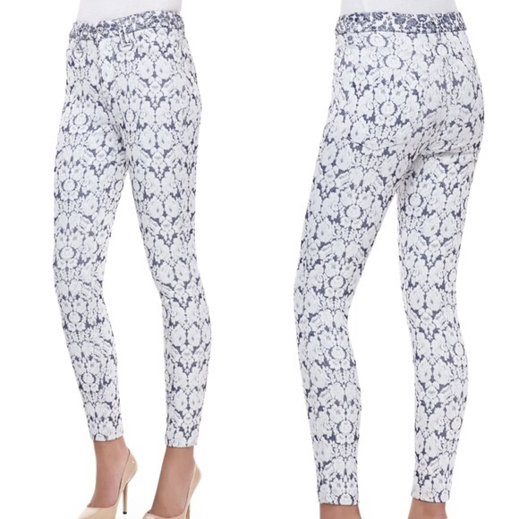 7 for All Mankind The Ankle Skinny Jacquard Print